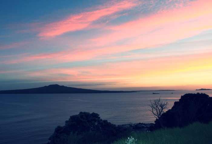 An Auckland sunrise - from Fort Takapuna. Photo: Su Leslie 2013
