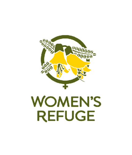 Logo of Women's Refuge New Zealand.