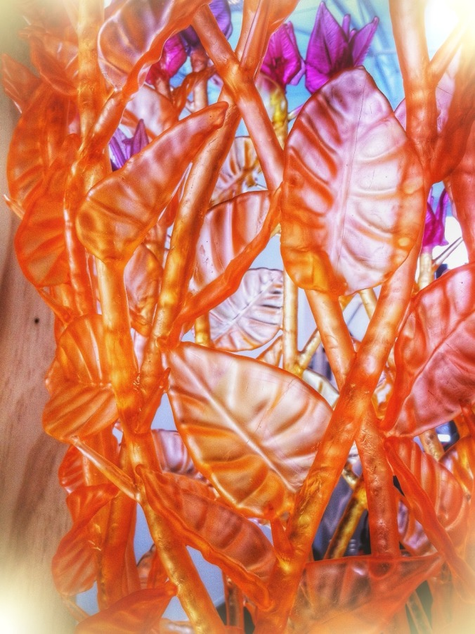 Macro. Detail of cast glass work entitled The Firebush 5, by Evelyn Dunstan. Image: Su Leslie, 2013