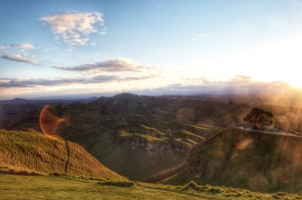 Sunset, Te Mata Peak, Hawke's Bay, NZ. Image: Su Leslie 2018
