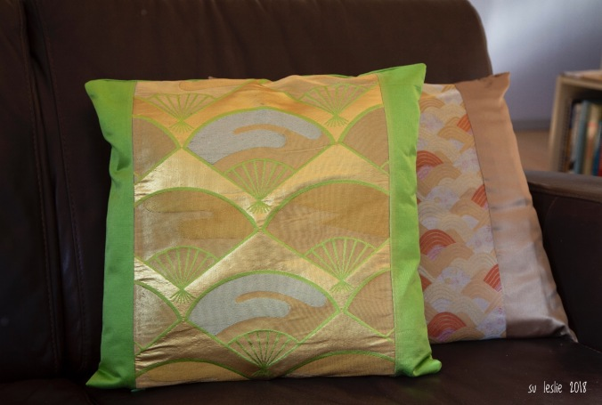 obi-sash cushion lustre