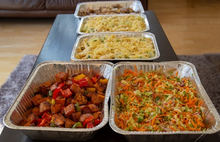 Food to share; a meal made on Good Friday and taken to the City Mission, which feeds those in need. Image: Su Leslie 2019