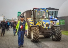 New Zealand -- where police vehicles include tractors. Image: Su Leslie 2019