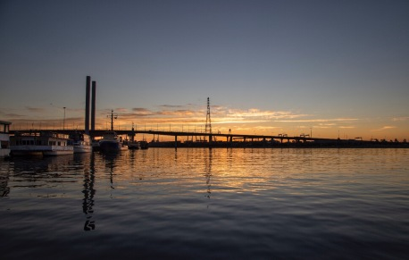 Bolte Bridge at sunset, Melbourne. Image: Su Leslie 2019