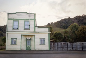 Building, Mangaweka, New Zealand. In 1973 artist Robin White painted this building, with a 1930s truck parked outside. The painting has become famous -- my photo, probably not. Image: Su Leslie 2019