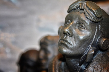 Detail,Bomber Command Memorial, Auckland Museum. Made by Richard Taylor, Weta Workshop. Image: Su Leslie
