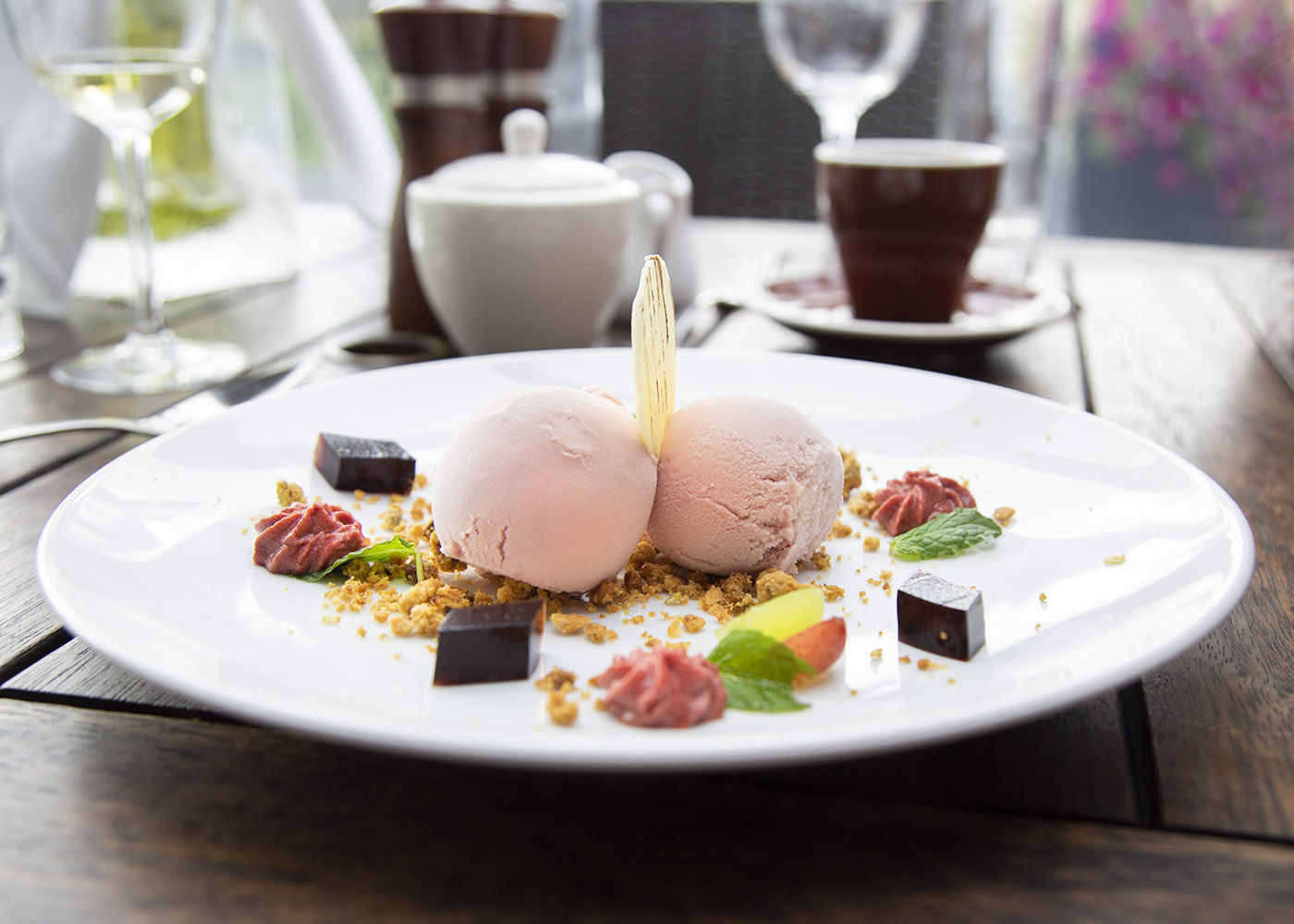 plumes dessert