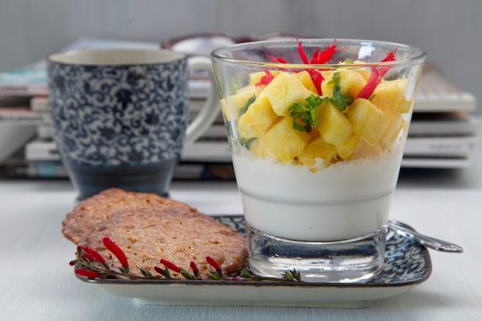pannacotta with pineapple